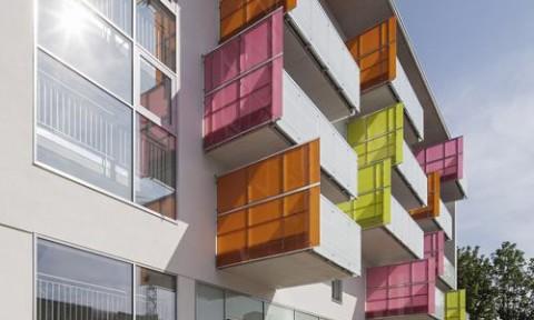 Khu phức hợp nhà ở sử dụng năng lượng mặt trời tại Áo
