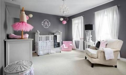 20 thiết kế phòng ngủ trang nhã với gam màu hồng, xám