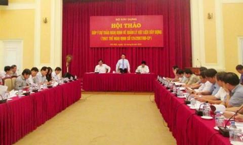 Hướng tới chính sách phát triển VLXD tiết kiệm tài nguyên