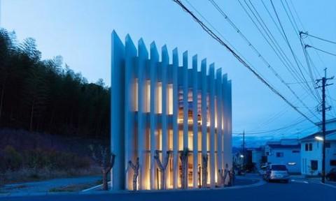 Nhà 2 tầng kiểu Nhật trên mảnh đất hình quạt