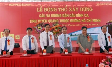Khởi công dự án cầu Bình Ca trị giá hơn 1.000 tỷ đồng tại Tuyên Quang