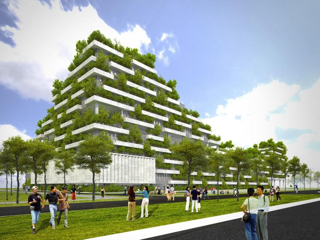 Thiết kế Tòa nhà văn phòng xanh FPT, khu CNC Hòa Lạc, Hà Nội