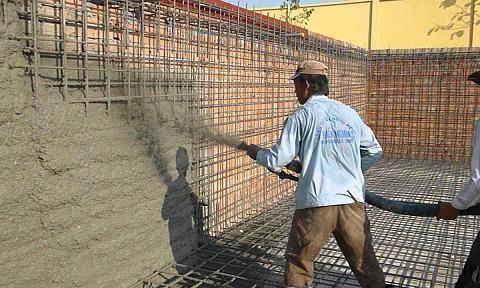 Công thức mới phát triển bê tông phun có độ bền cao