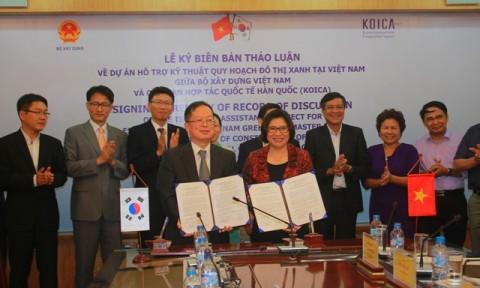 Bộ Xây dựng và KOICA ký kết Biên bản thảo luận về Dự án Hỗ trợ kỹ thuật quy hoạch đô thị xanh tại Việt Nam