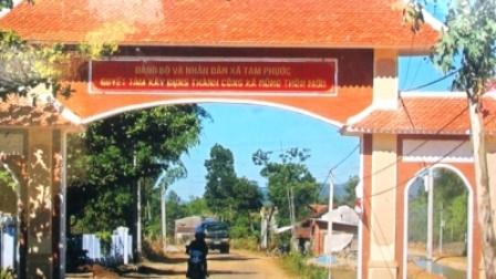 Diện mạo nông thôn mới ở xã Tam Phước (huyện Phú Ninh, Quảng Nam).