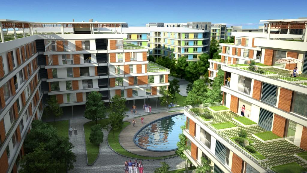 """Thiết kế kiến trúc nhà ở """"sinh thái"""", chung cư thu nhập thấp KĐTM Đặng Xá Viglacera, Gia Lâm, Hà Nội"""