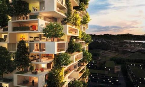 """""""Khu rừng thẳng đứng"""" trên tòa nhà chọc trời tại Thụy Sĩ"""