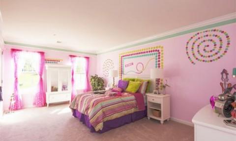 Phòng ngủ xinh đẹp cho bé gái