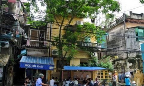 Nhà cũ tại phố cổ Hà Nội có giá 108 triệu đồng một m2
