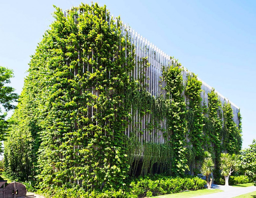 Kiến trúc mặt đứng xanh cho công trình