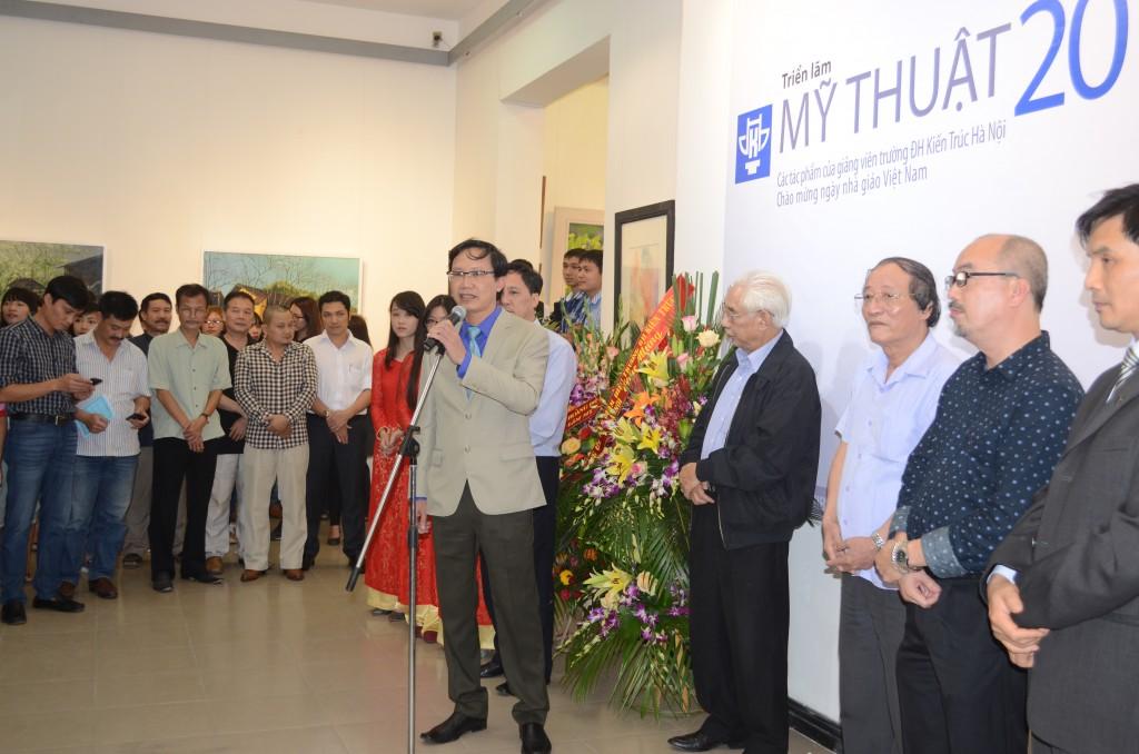 TS.KTS Nguyễn Đình Toàn – Thứ trưởng Bộ Xây dựng phát biểu khai mạc Triển lãm