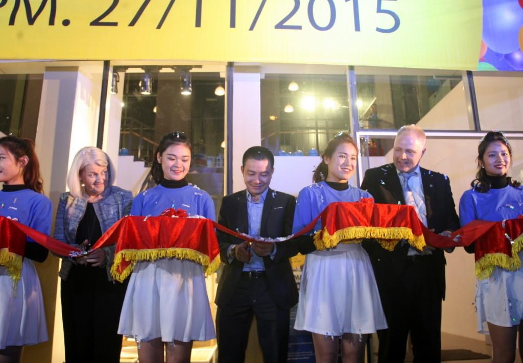 Lễ khai trương chính thứccủa cửa hàngJYSK tạiMandarin Garden, số 1Hoàng Minh Giám,quận Cầu Giấy, Hà Nội.