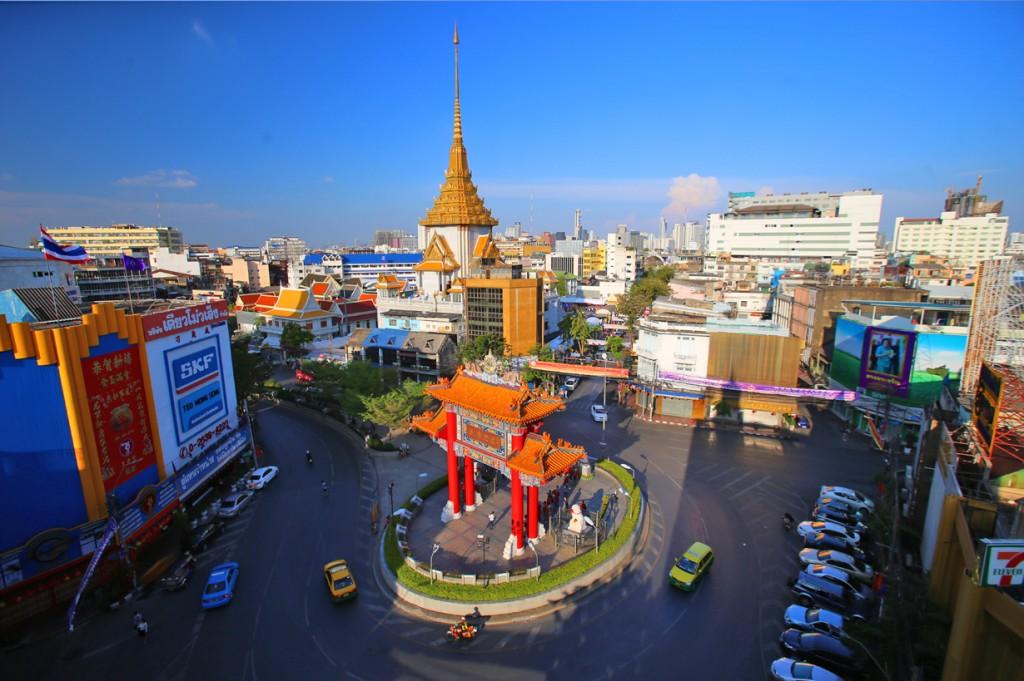Không gian cổng chính khu Chinatown Bangkok, Thailand