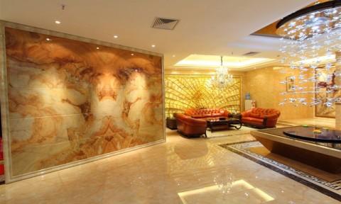 Khúc biến tấu của đá hoa cương và tranh dán tường 3D