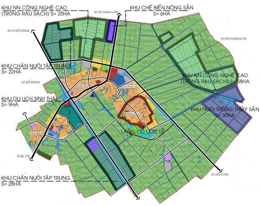 Quy hoạch mẫu nông thôn mới xã Tân Ước, Thanh Oai, Hà Nội
