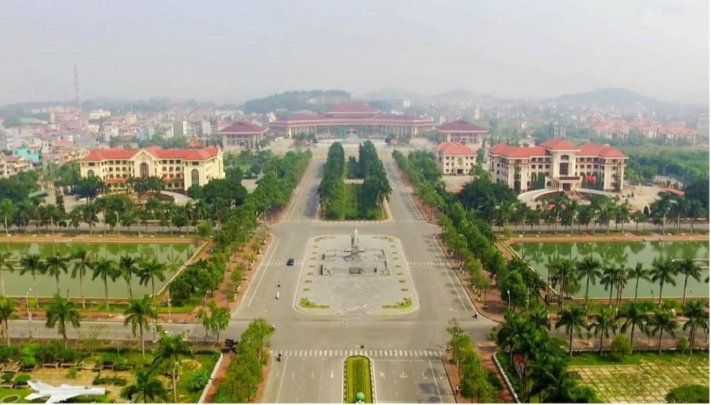 Không gian trung tâm hành chính thành phố Bắc Ninh