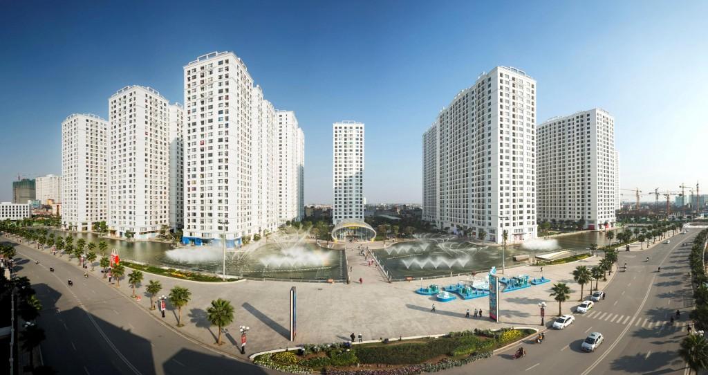 Không gian quảng trường và trung tâm dịch vụ khu ĐTM Time City, Hà Nội