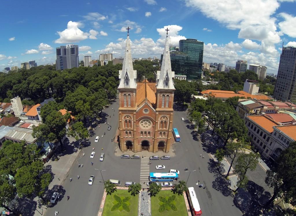 Không gian khu trung tâm hiện hữu Tp. Hồ Chí Minh