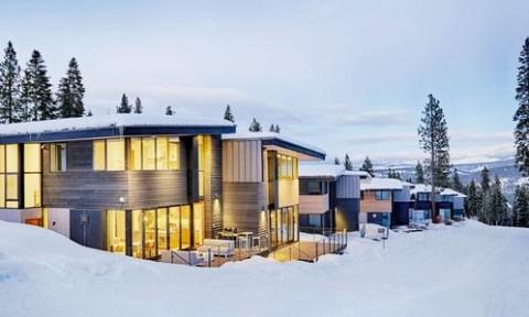 Ngôi nhà tiết kiệm năng lượng trong không gian núi tuyết