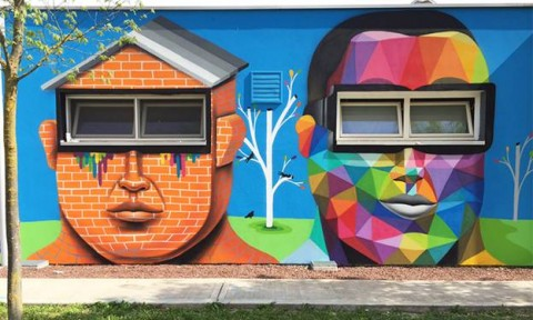 Nghệ thuật đường phố sống động trong thiết kế trường mẫu giáo ở Ý