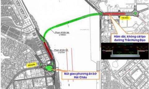 Tháng 7/2016 sẽ khởi công xây dựng hầm qua sông Hàn