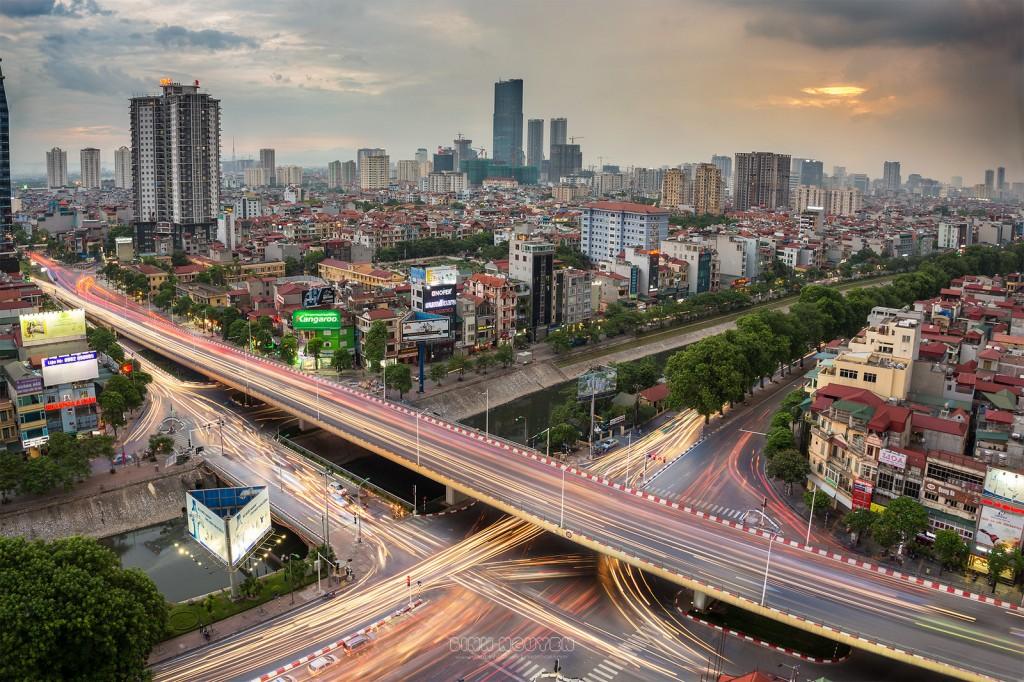 Hệ thống cầu vượt giao thông đô thị xây mới trung tâm TP. Hà Nội