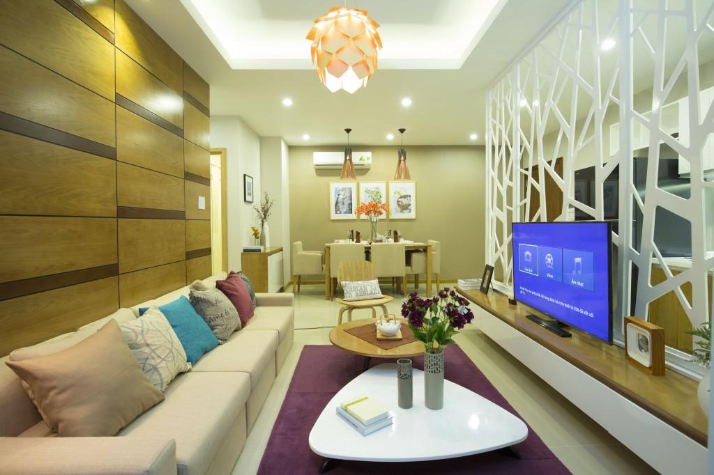 Không gian nội thất tiện nghi, sang trọng của các căn hộ mẫu