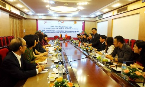 Bộ Xây dựng và GIZ ký kết Thỏa thuận hợp tác thực hiện Dự án quản lý nước thải tại các đô thị Việt Nam