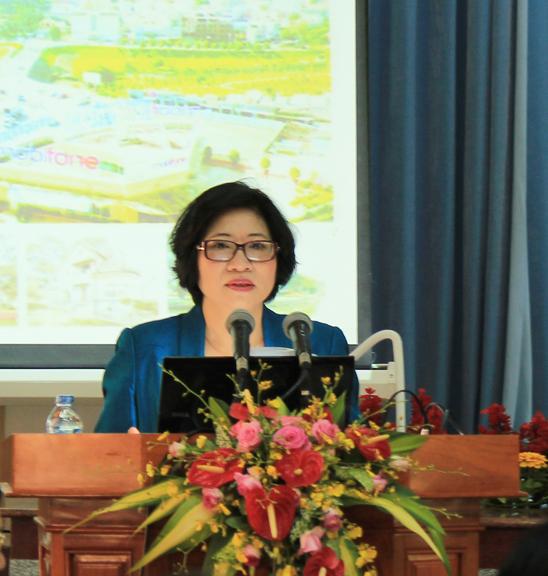 Thứ trưởng BXD Phan Thị Mỹ Linh phát biểu tại hội thảo