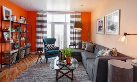 Cam – Sắc màu tuyệt vời cho phòng khách