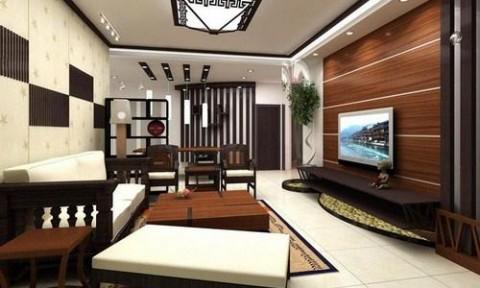 Chọn vật liệu trang trí tường phòng khách ấn tượng