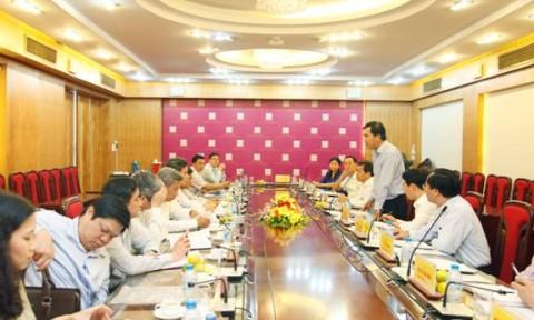 Đảng ủy Khối các cơ quan Trung ương làm việc với Đảng ủy Bộ Xây dựng