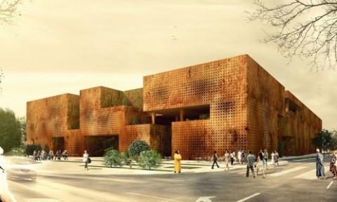 Thiết kế hiện đại pha trộn kiến trúc truyền thống của Ma-rốc