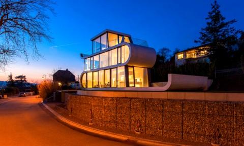 Ngôi nhà có thiết kế như dải ruy băng tại Thụy Sĩ