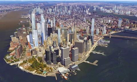 Đường chân trời ở New York trong tầm nhìn năm 2020