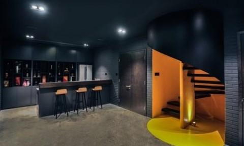 Biến hầm biệt thự thành phòng xem phim hiện đại