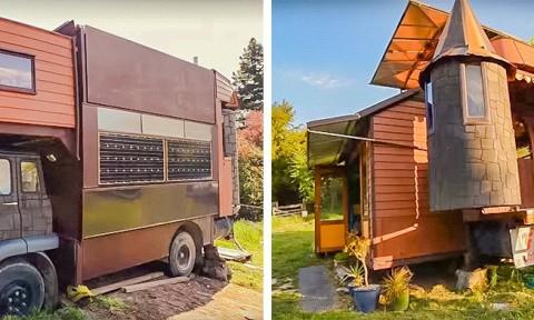 Biến xe tải cũ thành ngôi nhà di động