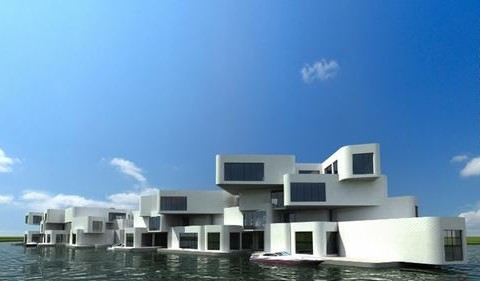 Những tòa nhà tuyệt đẹp trên mặt biển