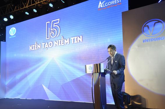 Ông Bùi Trọng Dũng - TGĐ Công ty CP Nhôm Việt Dũng phát biểu khai mạc