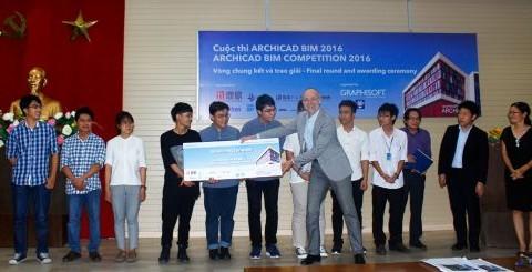 Sinh viên ĐH Kiến trúc TP.HCM giành giải Nhất cuộc thi ARCHICAD BIM 2016
