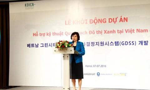 Thứ trưởng Phan Thị Mỹ Linh dự Lễ khởi động Dự án Hỗ trợ kỹ thuật Quy hoạch đô thị xanh tại Việt Nam