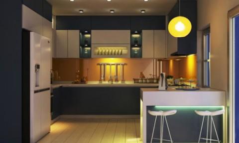 Gam màu trầm mang đến cho gian bếp sự hiện đại và mới lạ