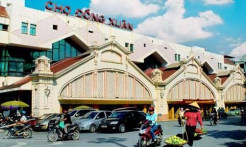 Quận Hoàn Kiếm có ý tưởng xây mới chợ Đồng Xuân 4 tầng nổi, 5 tầng hầm