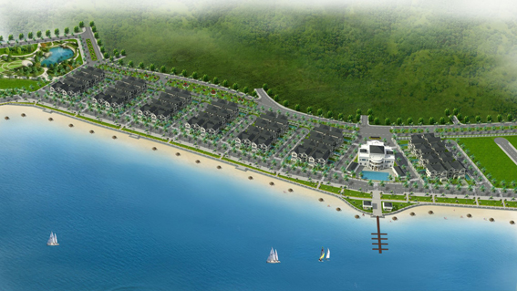 Phối cảnh tổng thể khu nghỉ dưỡng đảo Tuần Châu