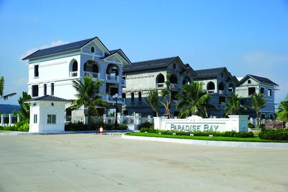 Các biệt thự được thiết kế theo phong cách kiến trúc Pháp