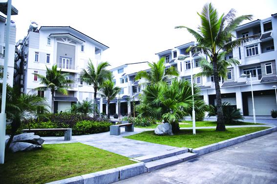 Khoảng không gian xanh mát giữa các khu nghỉ dưỡng