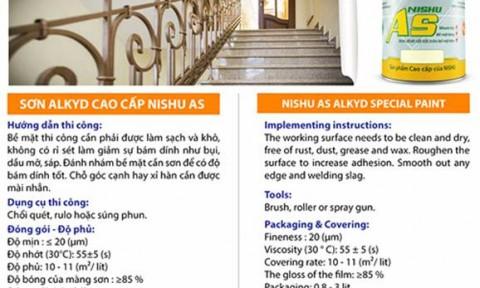 Sơn alkyd đặc biệt cao cấp NISHU AS