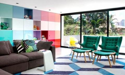 Xu hướng thiết kế nội thất đầy màu sắc hiện đại