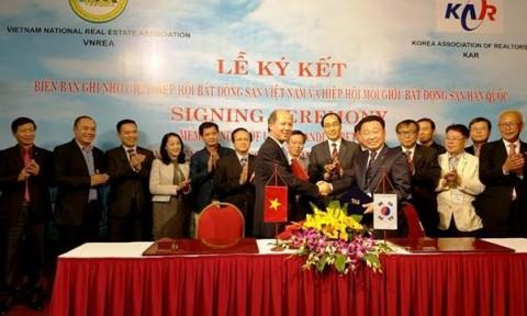 VNREA hợp tác với Hiệp hội Môi giới BĐS Hàn Quốc