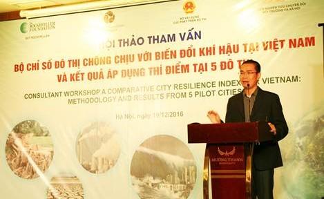 Xây dựng Bộ chỉ số đô thị chống chịu với biến đổi khí hậu tại Việt Nam